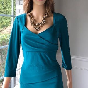 INSTANTLY SLIMMING DRESS  3/4-SLEEVE